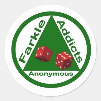 Adictos a Farkle anónimos Pegatinas Redondas