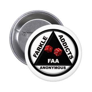 Adictos a Farkle anónimos (versión 2010) Chapa Redonda De 5 Cm