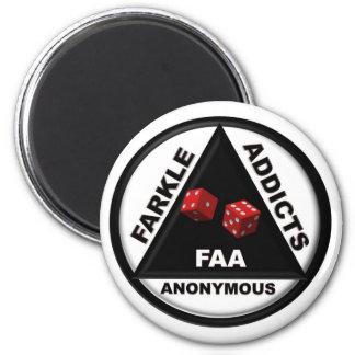 Adictos a Farkle anónimos (versión 2010) Imán Redondo 5 Cm