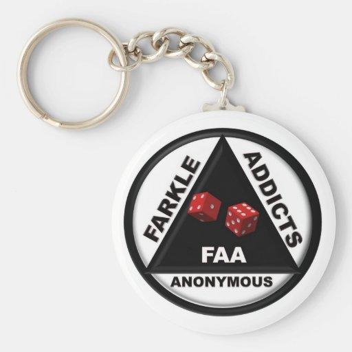 Adictos a Farkle anónimos (versión 2010) Llavero Personalizado