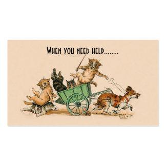 Adiestrador de perros, cuidado de animales de tarjetas de visita