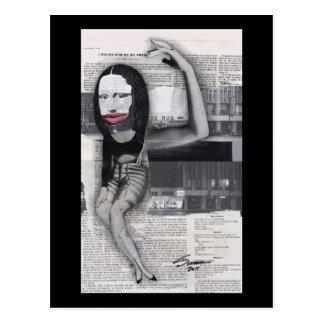 Adieté durante mi collage de Mona Lisa del embaraz Postal
