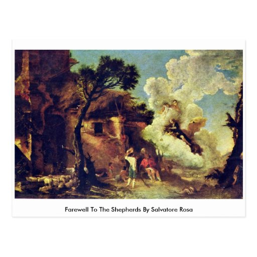 Adiós a los pastores de Salvador Rosa Tarjetas Postales