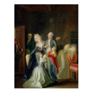Adiós a Louis XVI de su familia Postal