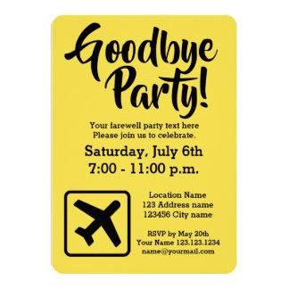 Adiós adiós que va lejos invitaciones del fiesta