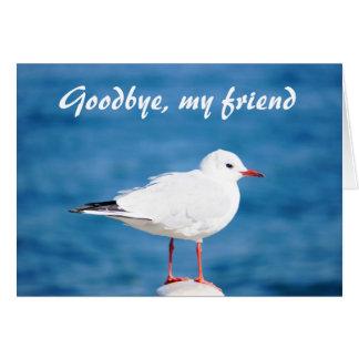 Adiós Auf Wiedersehen Despedida de Sayonara de la Tarjeta De Felicitación
