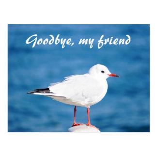 Adiós Auf Wiedersehen Despedida de Sayonara de la  Tarjeta Postal
