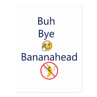 ¡Adiós Bananahead de Buh! Postal