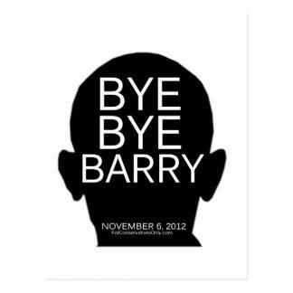 Adiós Barry - elección 2012 Tarjeta Postal