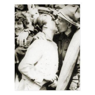 Adiós beso 1915 postal
