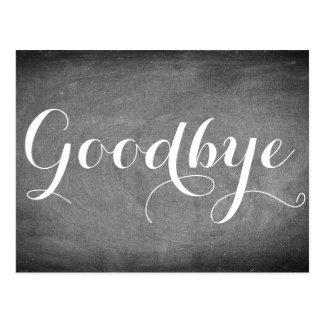 Adiós blanco del negro de la tipografía de la postal