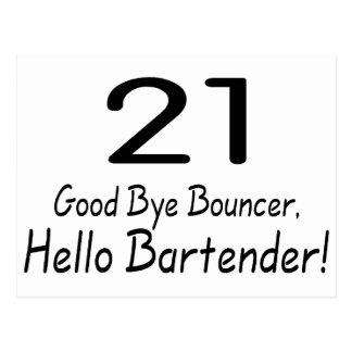 Adiós camarero de la gorila 21 hola (negro) postal