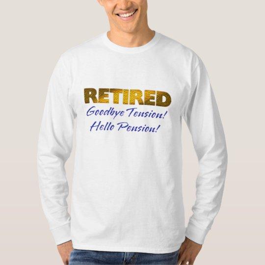adiós camisa divertida jubilada de la pensión de