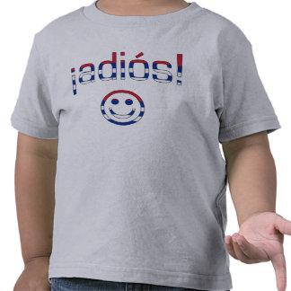 ¡¡Adiós! Colores de la bandera de Cuba Camiseta