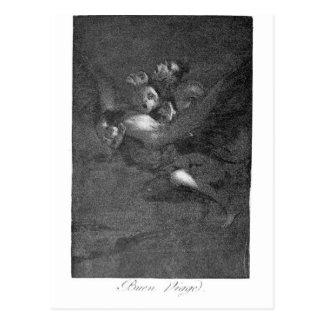 Adiós de Francisco Goya Postal