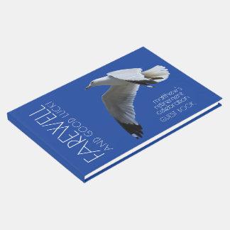 Adiós de la gaviota en vuelo/fiesta de retiro libro de invitados