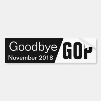 Adiós GOP Pegatina Para Coche