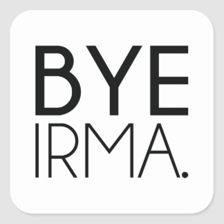 Adiós Irma Pegatina Cuadrada
