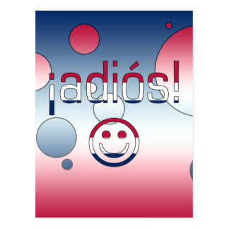 ¡¡Adiós! La bandera de América colorea arte pop Postal