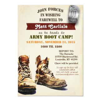 Adiós militar que va lejos invitación de Boot Camp