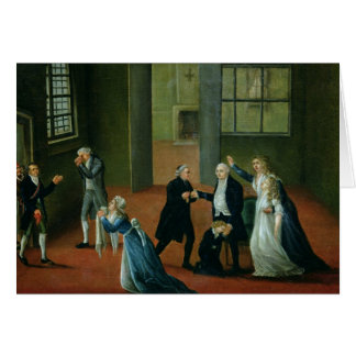 Adiós que hace una oferta de Louis XVI a su famili Tarjeta De Felicitación