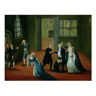 Adiós que hace una oferta de Louis XVI a su Postal