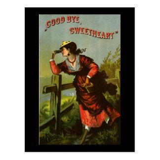 Adiós tabaco del amor tarjeta postal