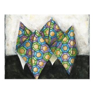 Adivino de Origami en el papel geométrico Postal