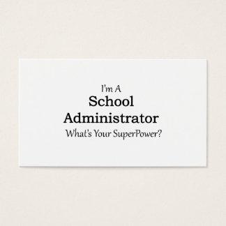 Administrador de escuela tarjeta de negocios