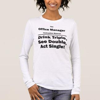 administrador de oficinas camiseta de manga larga