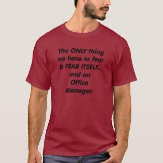 administrador de oficinas del miedo camiseta