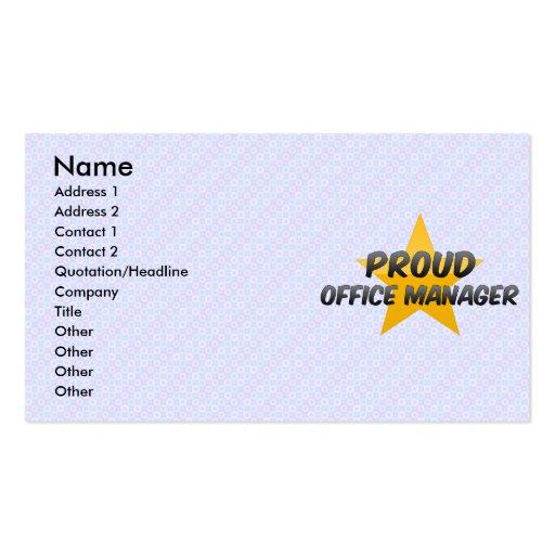 Administrador de oficinas orgulloso plantilla de tarjeta de visita