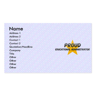 Administrador educativo orgulloso tarjeta personal