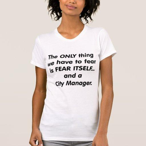 administrador municipal del miedo camiseta