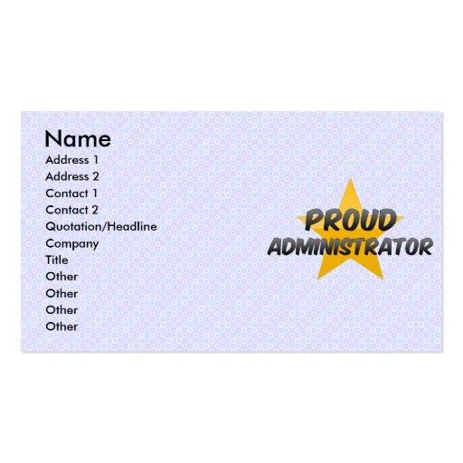 Administrador orgulloso plantillas de tarjetas de visita