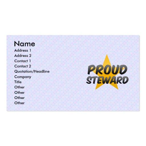 Administrador orgulloso plantillas de tarjeta de negocio