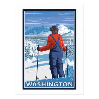 Admiración del esquiador - Washington Tarjetas Postales