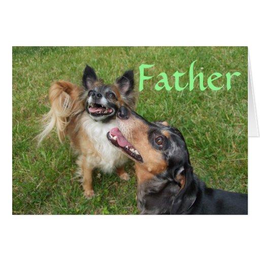 Admiración del padre tarjetón