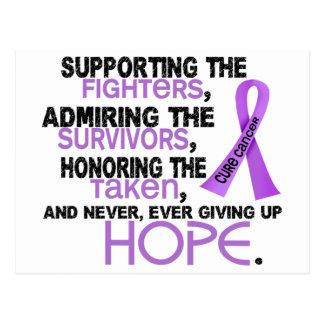 Admiración favorable honrando al cáncer 3,2 postal