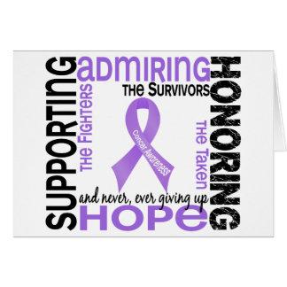 Admiración favorable honrando al cáncer 9 felicitación