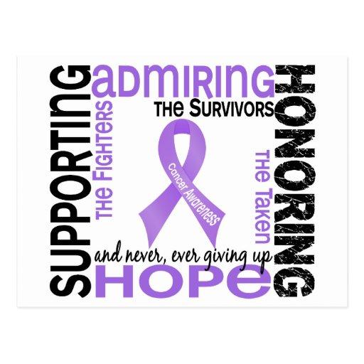 Admiración favorable honrando al cáncer 9 postal