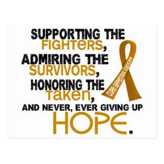 Admiración favorable honrando al cáncer de 3,2 postal