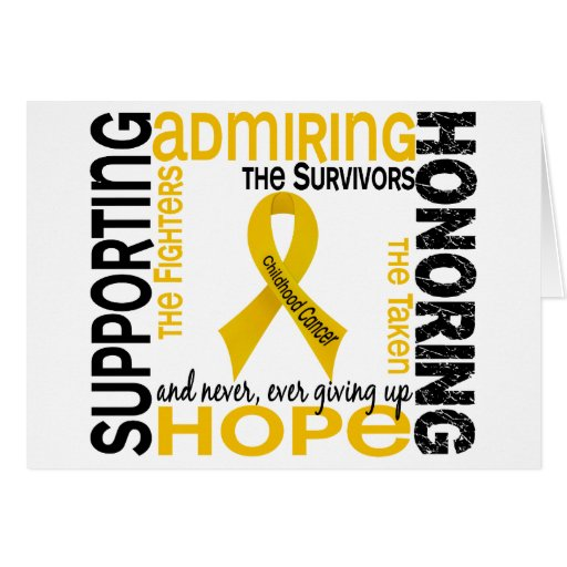 Admiración favorable honrando al cáncer de 9 niñec felicitaciones