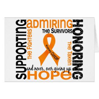 Admiración favorable honrando al cáncer de 9 riñon tarjeta de felicitación