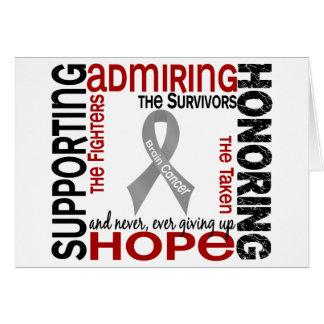 Admiración favorable honrando al cáncer de cerebro tarjeta de felicitación