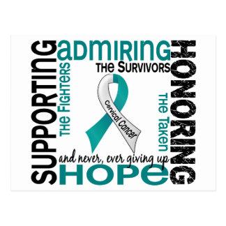 Admiración favorable honrando al cáncer de cuello postal
