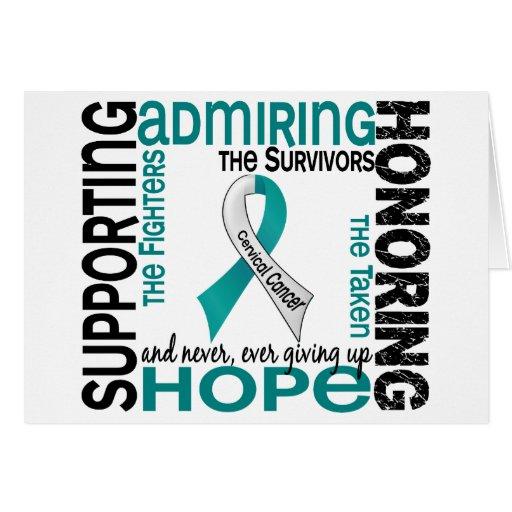 Admiración favorable honrando al cáncer de cuello  tarjeta