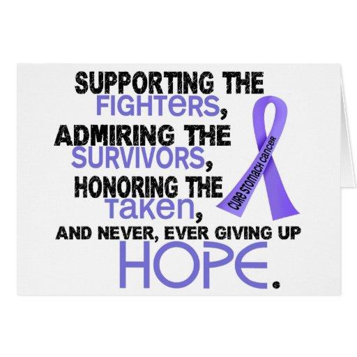 Admiración favorable honrando al cáncer de estómag tarjeton