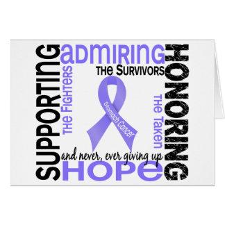 Admiración favorable honrando al cáncer de estómag felicitación