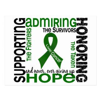 Admiración favorable honrando al cáncer de hígado postal